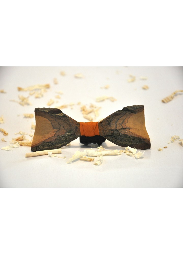 Wood bow tie carved Moisescu