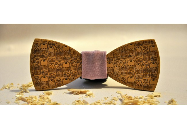 Wood bow tie Dolce