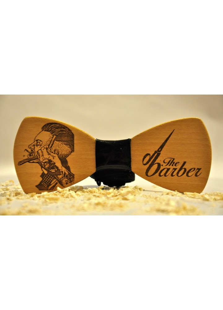 Wood bow tie The Barber