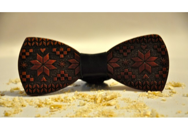 Wood bow tie Dark
