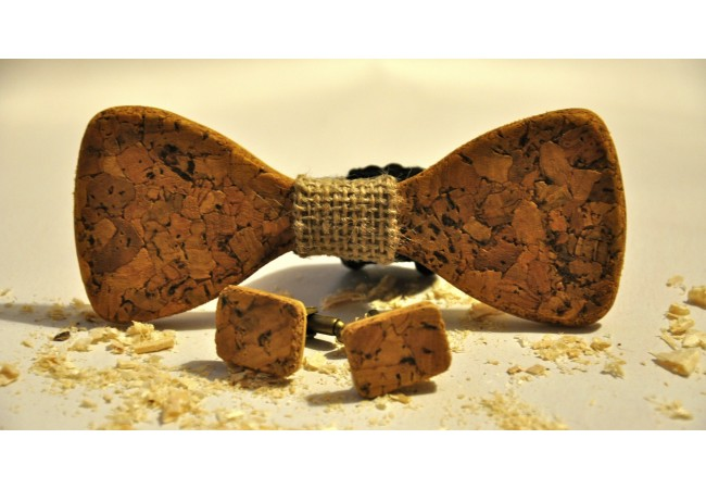Wood bow tie Cesco
