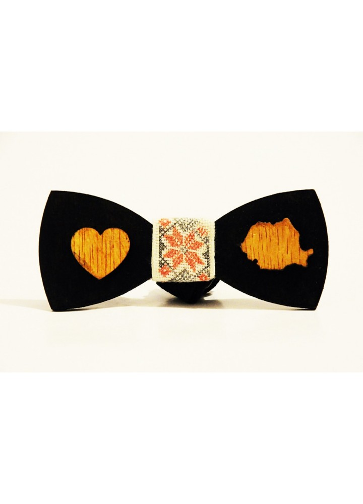 Wood bow tie Benito