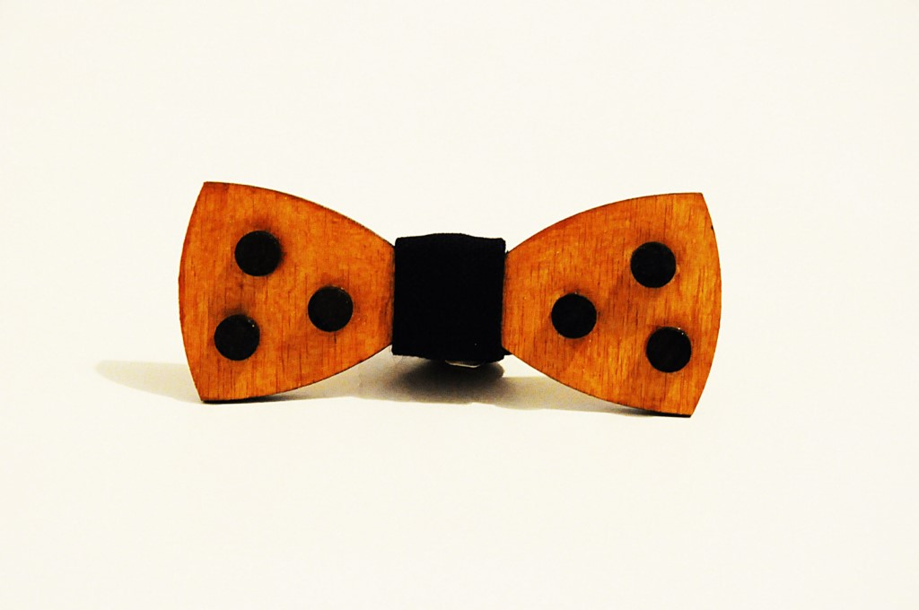 Wood bow tie Clemente