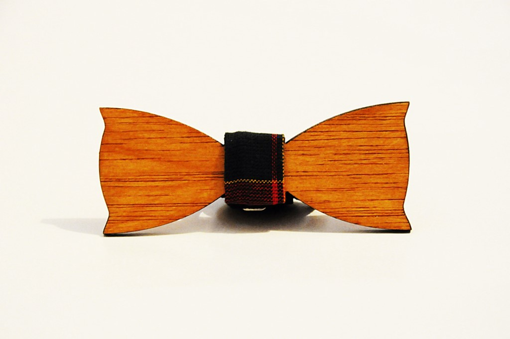 Wood bow tie Costantino