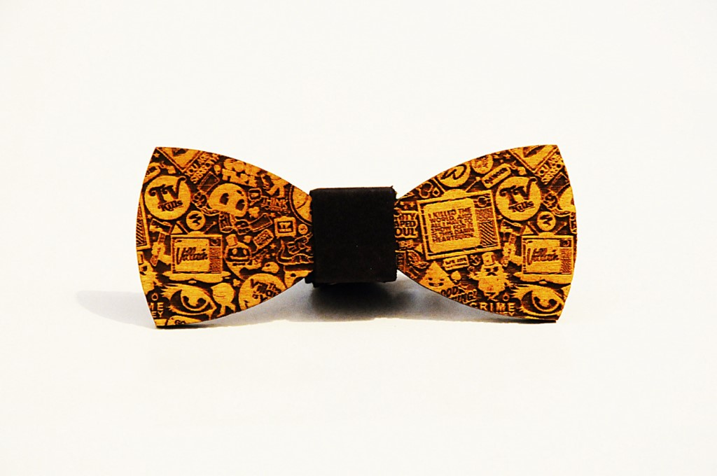 Wood bow tie Casian