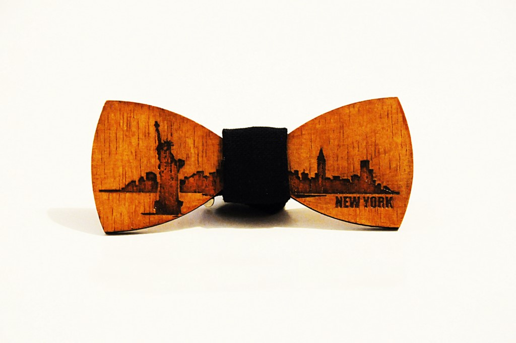 Wood bow tie Enrique