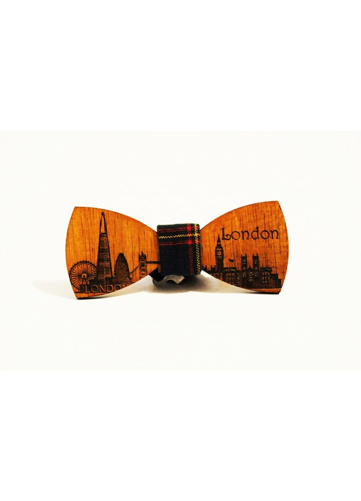 Wood bow tie Fausto