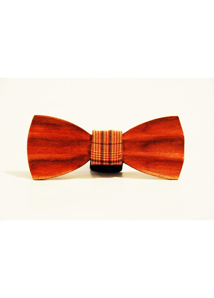 Wood bow tie carved Ventura