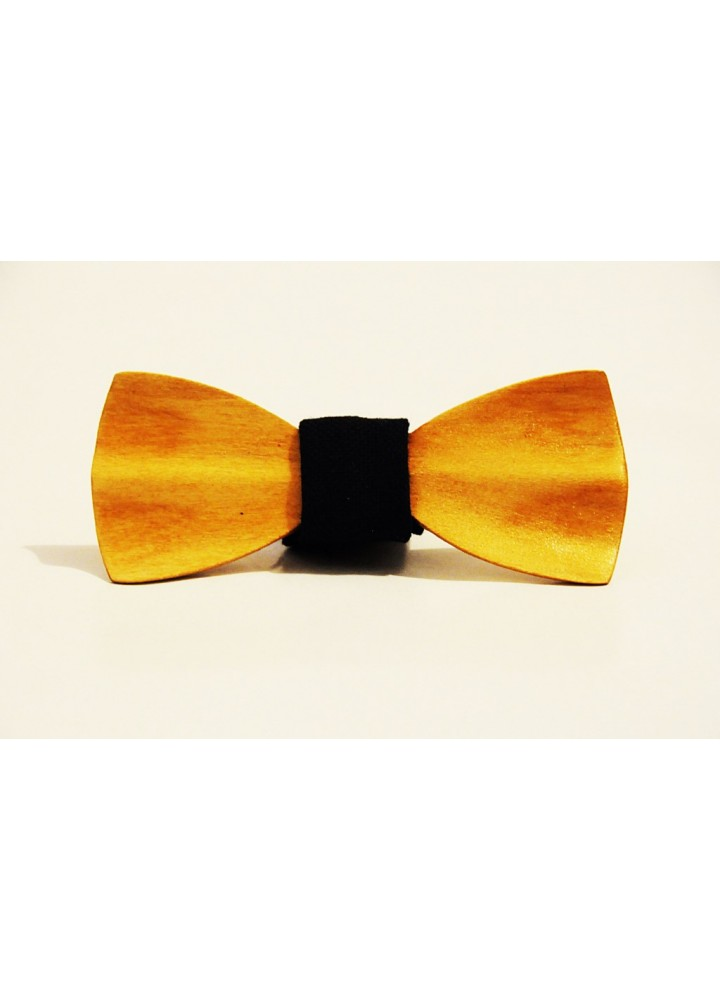 Wood bow tie carved Celentano