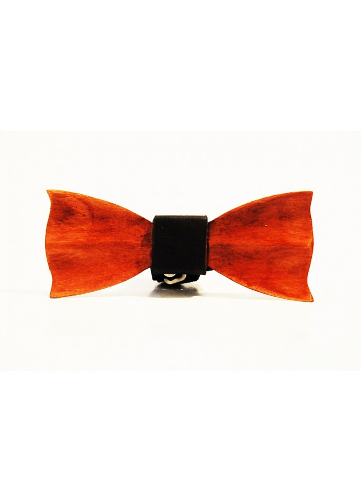 Wood bow tie carved Francesco