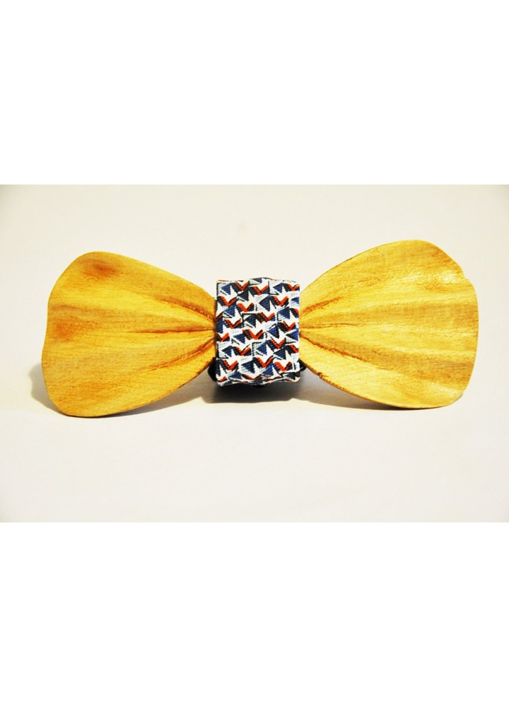 Wood bow tie carved Lazzaro