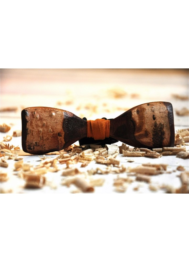 Wood bow tie carved Aristos