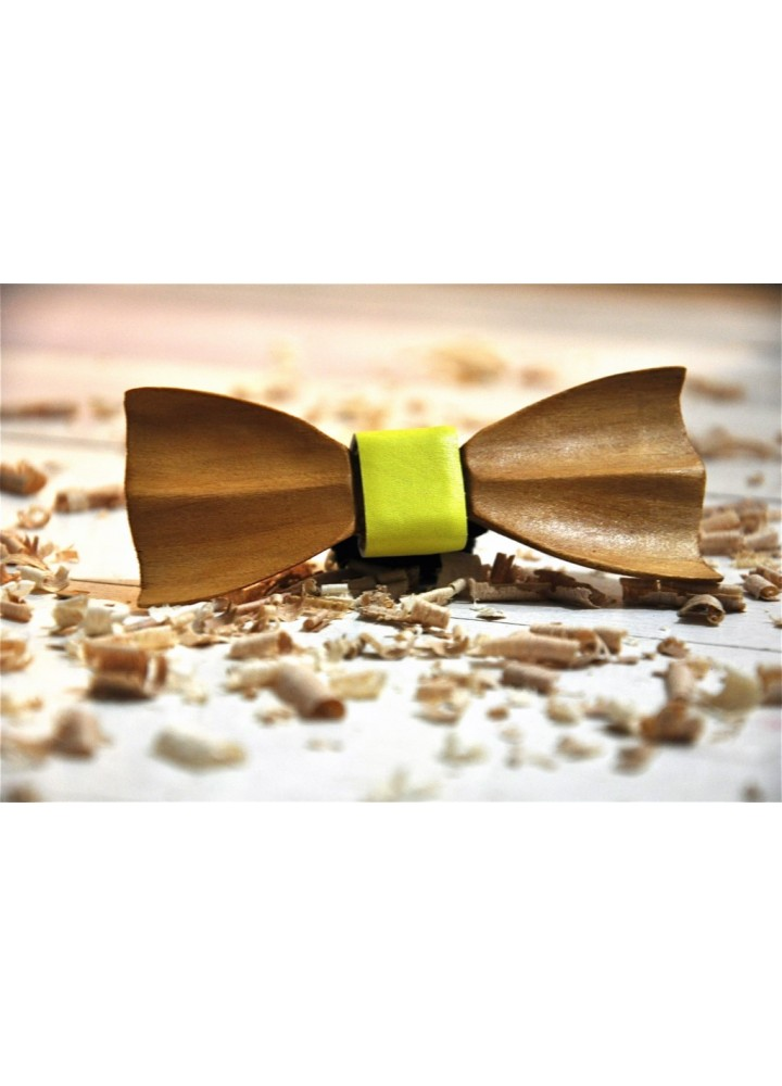 Wood bow tie carved Aristotle