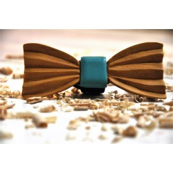 Wood bow tie carved Damian