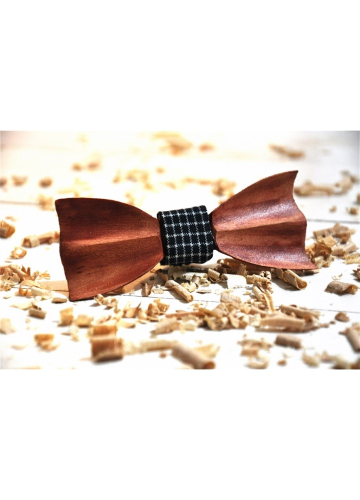 Wood bow tie carved Demetrius