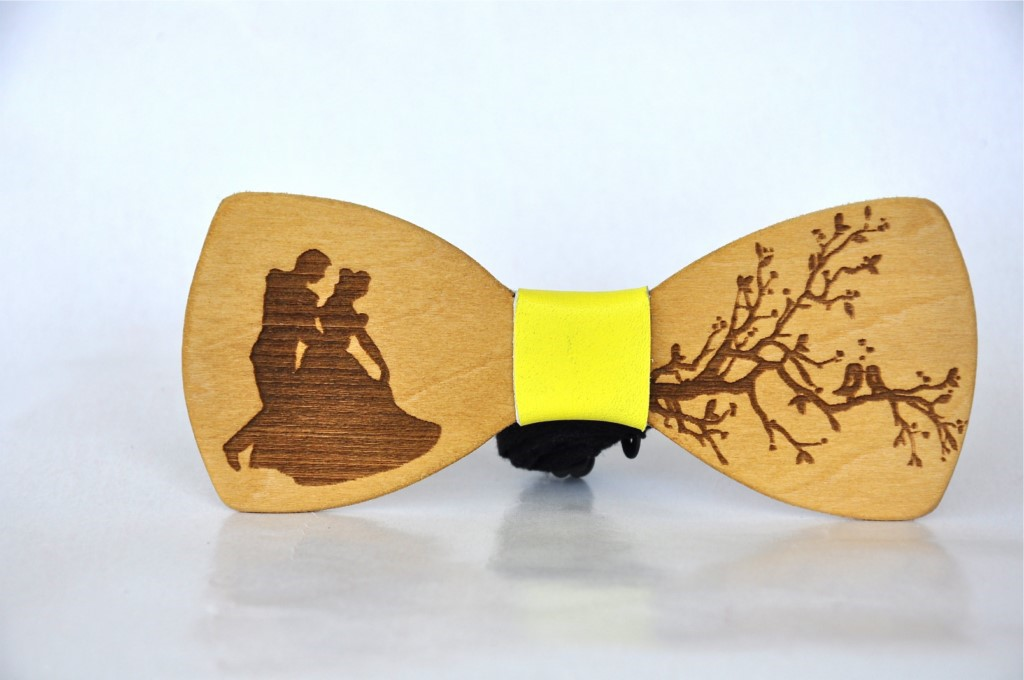 Wood bow tie Cayman