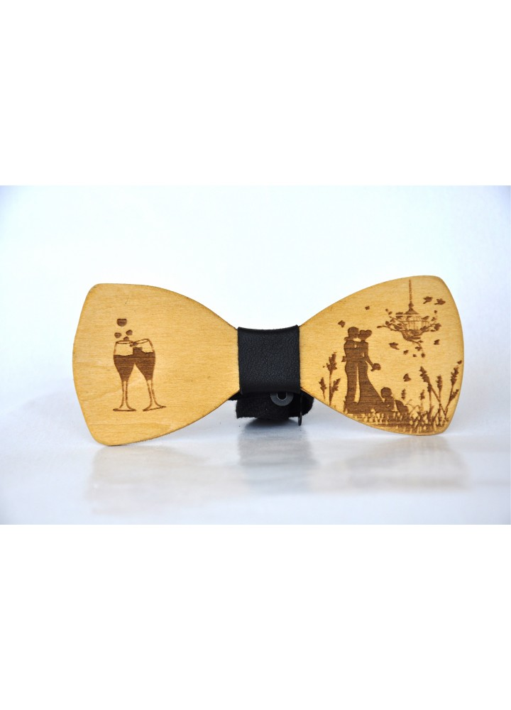 Wood bow tie Facile